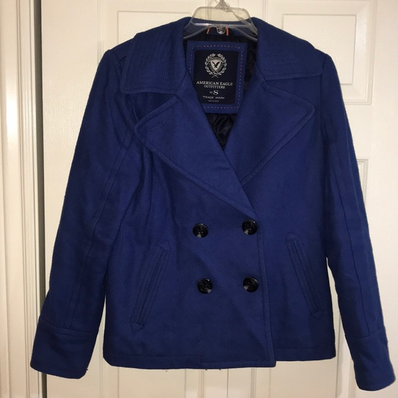 American Eagle Outfitters Jackets & Blazers - AE peacoat
